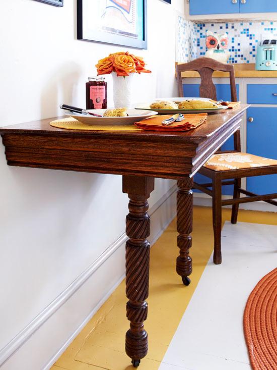 küchenbereich holz lackiert tisch retro vintage