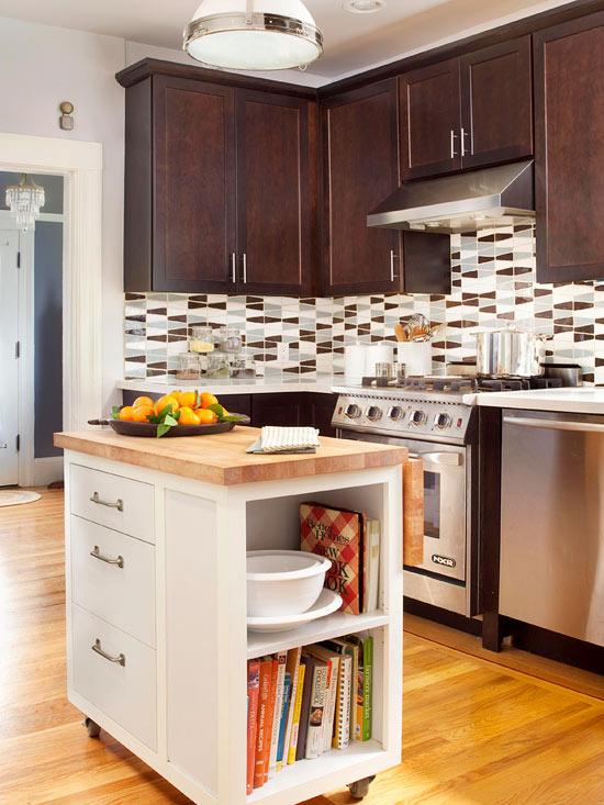 kücheninsel ideen klein raum küchenspiegel