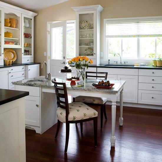 kücheninsel inspiration weiß multifunktional lehnstuhl blumenmuster