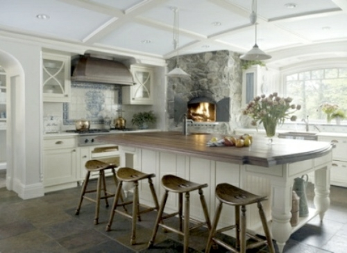 Kitchen Islands With Stools On Three Sides
