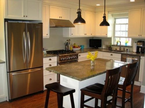 kücheninsel stehstühle modern altmodisch kombiniert