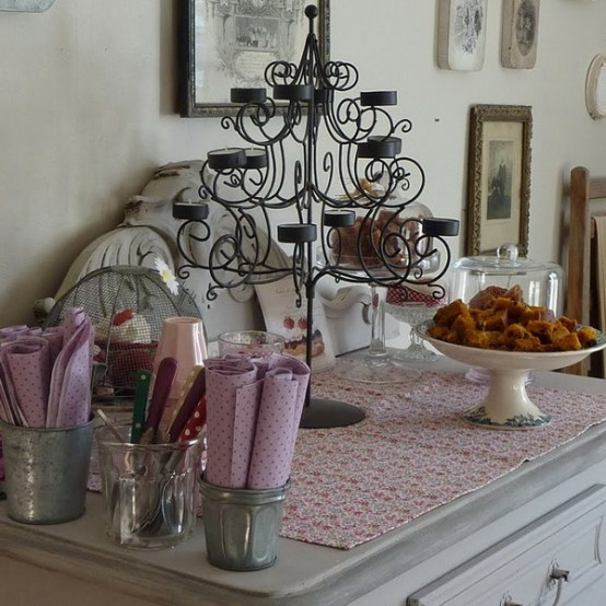 kerzenhalter idee dekorativ elegant rustikal land französisch design esszimmer
