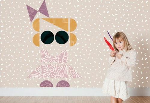 kinderzimmer design tapeten trestintas muster
