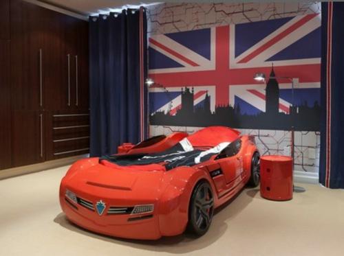 kinderzimmer im englischen stil auto rot modell