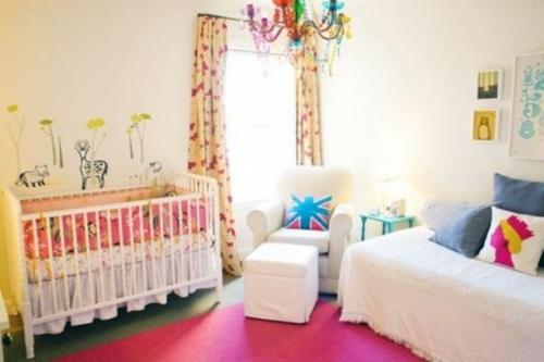 kinderzimmer im englischen stil babybett wandaufkleber