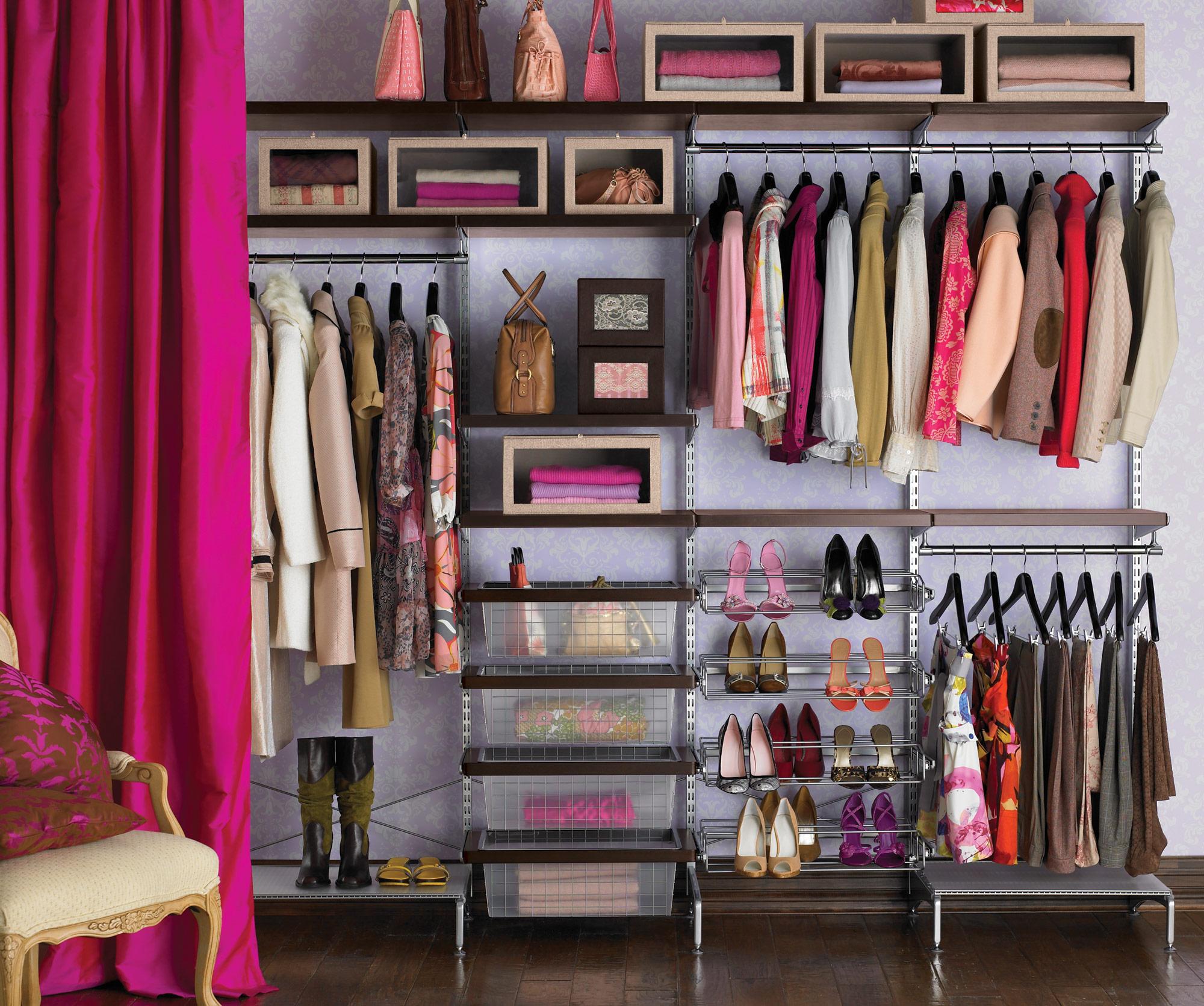 kleiderschrank-design idee rosa kühn farben