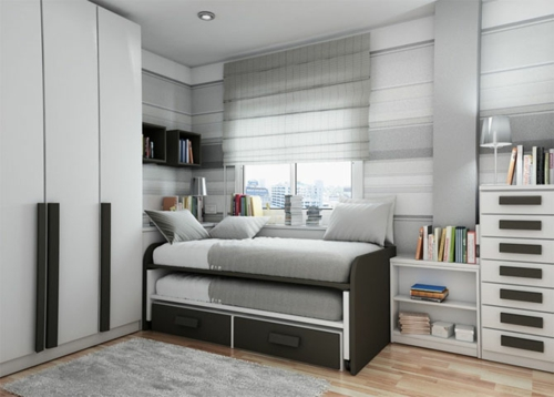 Sehr Kleines Schlafzimmer Einrichten: Offener Wohnplan Kleines ... Schlafzimmer Platzsparend Einrichten