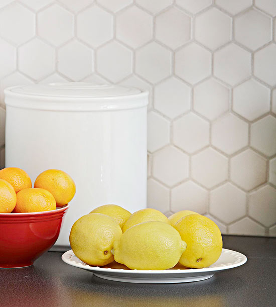 kompakte küchen weiß zitronen mandarinen