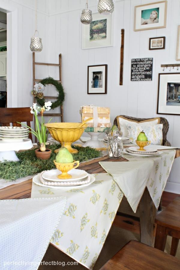 Sitzgruppe Esszimmer Weiss Honig: Frische Frühlingsdekorationen Im Esszimmer