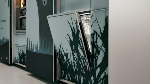 kreatives küchen design valcicune minimalistisch spülmaschine