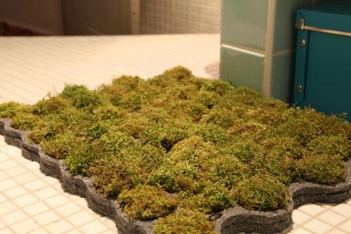 lebende badematte grün originell außergewöhnlich