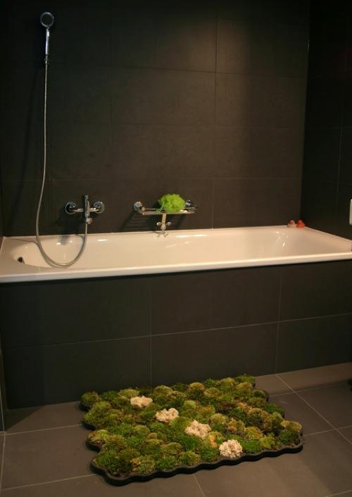 lebende badematte grün originell design einzigartig