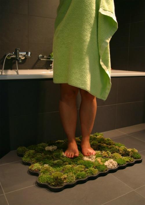 lebende badematte grün originell design wachsen