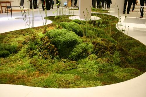 lebende teppich grün originell außergewöhnlich moos