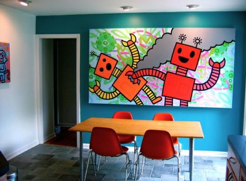 Attraktiv 27 Grelle Und Farbenfrohe Esszimmer Design Ideen ...