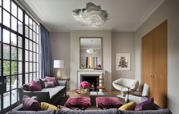 Lila Farbschema für die Wohneinrichtung ausprobieren