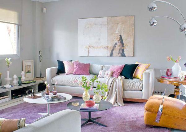 Lila farbschema f r die wohneinrichtung ausprobieren - Wandfarbe dunkellila ...