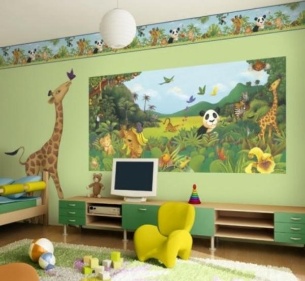 Lustig Verzierung Kinderzimmer Dschungel