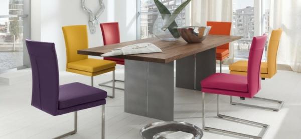 Esstisch stühle bunt  30 moderne Designs für das Esszimmer