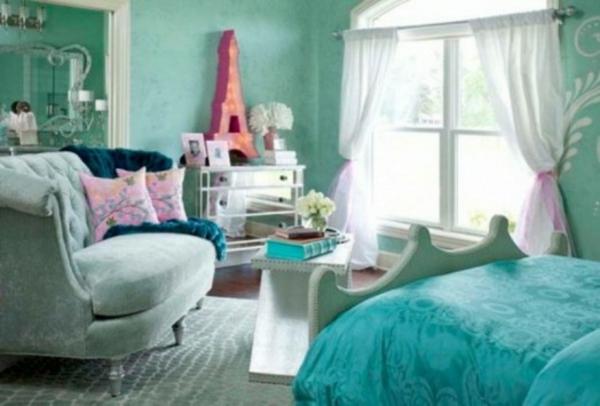 Luxuriöse Teenager Zimmer Smaragdgrün