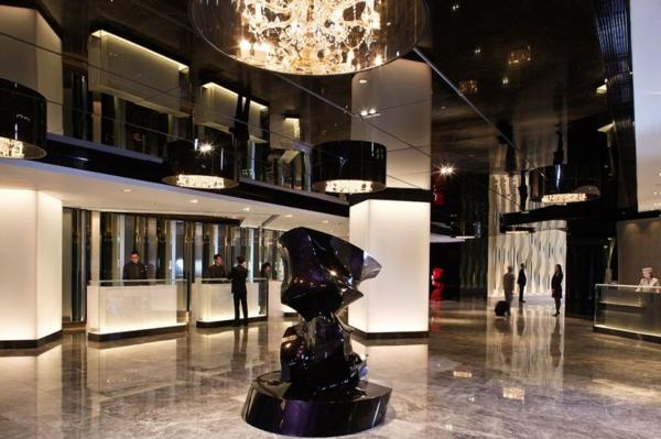 luxus hotel mira hong kong stadt viertel eingang empfangsraum
