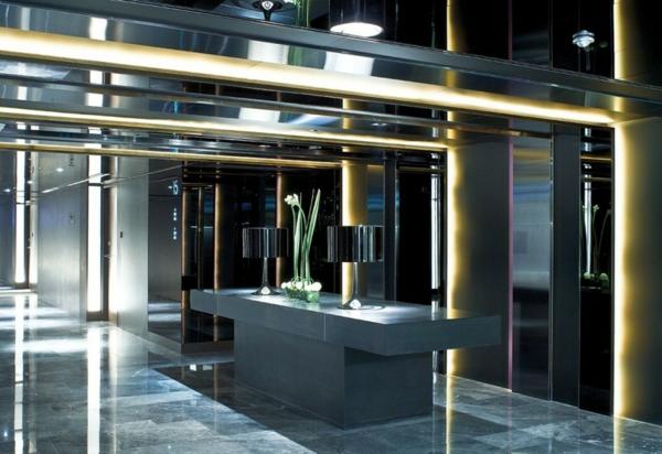 luxus hotel mira hong kong stadt viertel empfangsraum theke