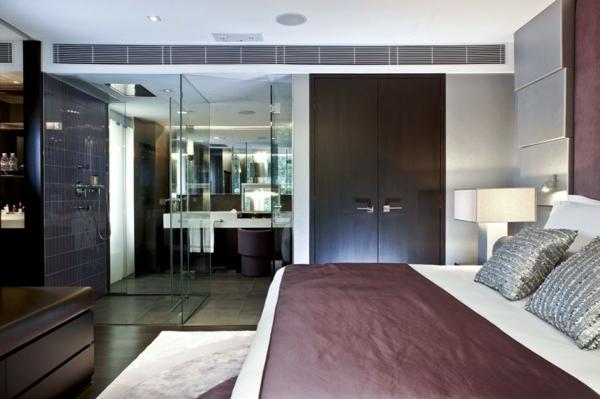 luxus hotel mira hong kong stadt viertel inneneinrichtung schlafzimmer silbern