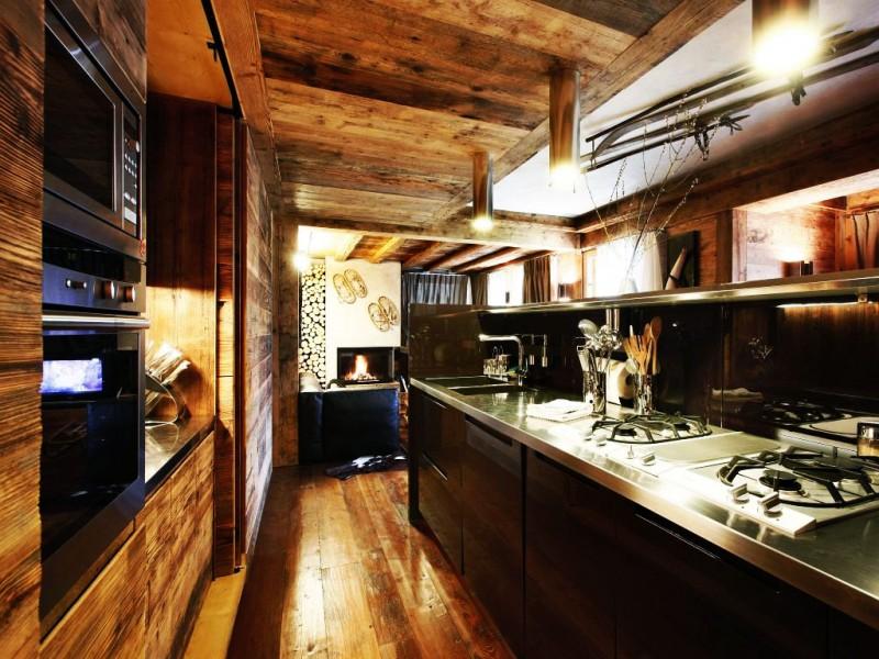luxus villa im landhausstil ampezzo maleres holz insel küche