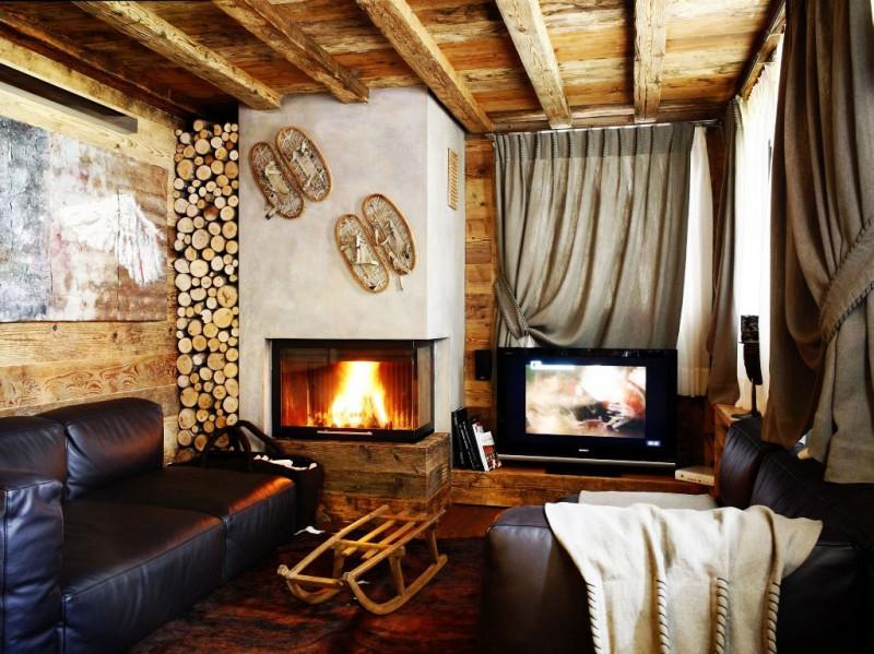 wohnzimmer landhausstil holz wand verkleidung | living room ... - Wohnzimmer Landhausstil Modern