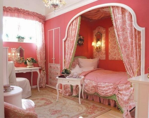 Schlafzimmer romantisch rosa  Küche Weiß Welche Wandfarbe