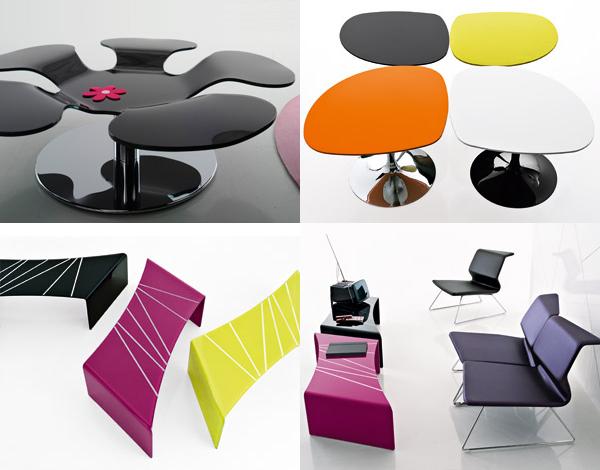 möbel luxus innovativ kaffeetisch design farbig modelle