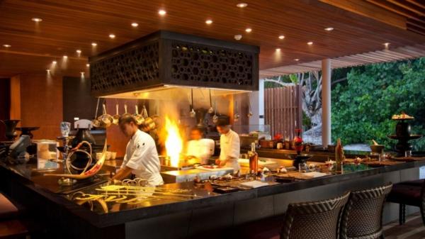 malediven restaurant bartheke
