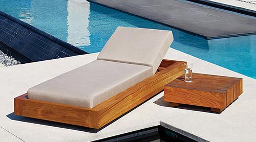 massive außenmöbelstücke aus teakholz designer ruhebett