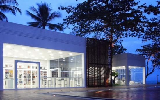 minimalistisches hotel design the library bibliothek gebäude