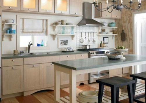 Moderne Fliesen Kuche : Moderne Kuche Mit Kleiner Insel  Möbel Zum Selbermachen Möbel