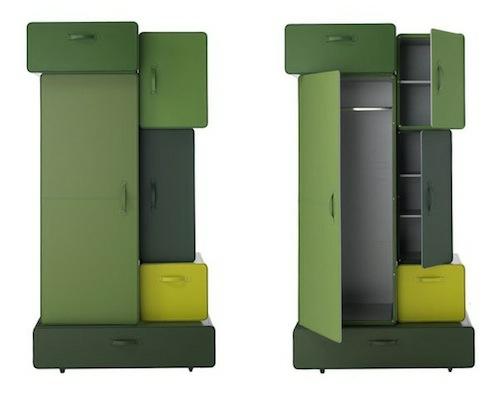 modern taschenschrank designer grün dunkel maarten de ceulaer
