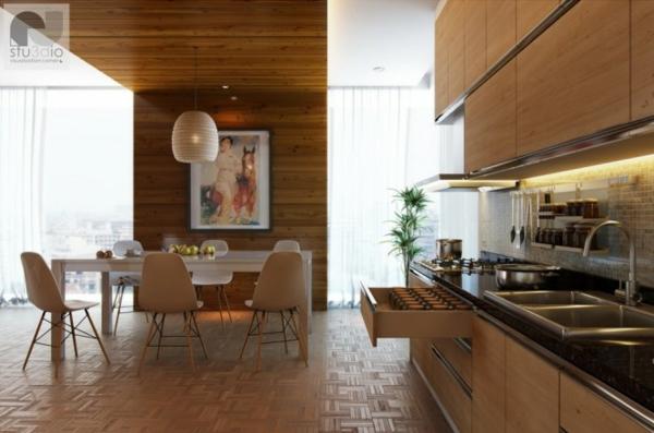 modern-wohnküche-design-holz