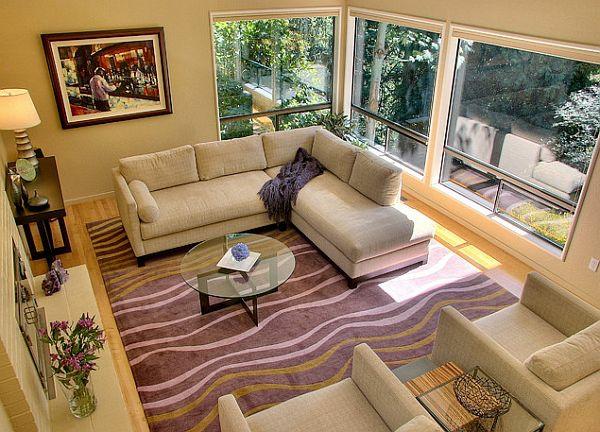 Teppich Wohnzimmer Design moderner wohnzimmer teppich matrix design kurzflor meliert grau anthrazit creme Modern Wohnzimmer Design Teppich Lila Violett