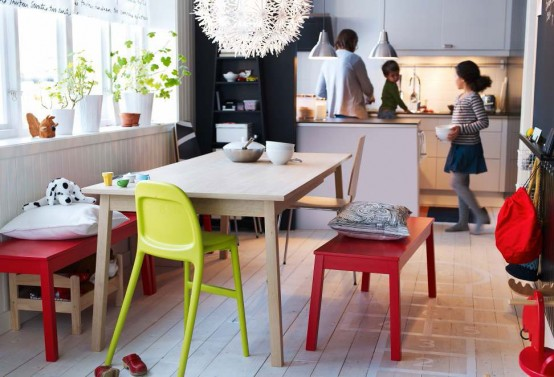 Moderne Esszimmer Design Ideen Ikea Grell Farben Plastisch