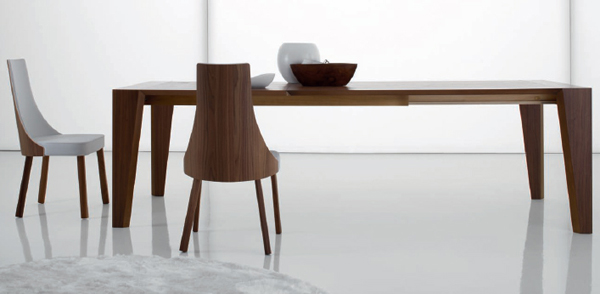 moderne futuristische möbelstücke essbereich holz rustikal