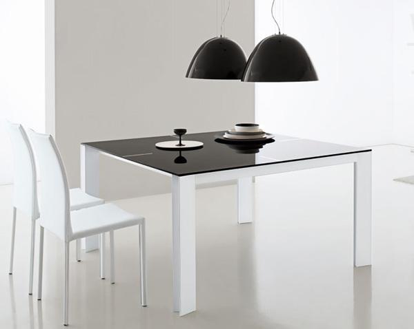 moderne futuristische möbelstücke essbereich schwarz weiß