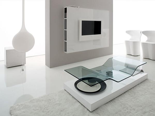 moderne futuristische möbelstücke fernseher innovativer tisch