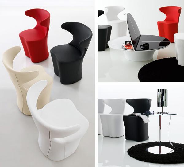 moderne futuristische möbelstücke stühle leder tisch sessel