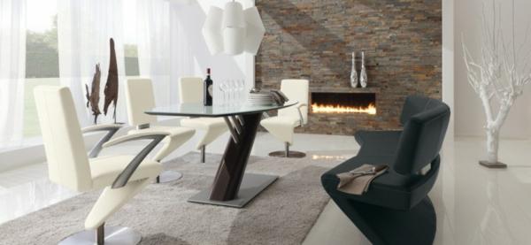 moderne möbel in interessanten formen