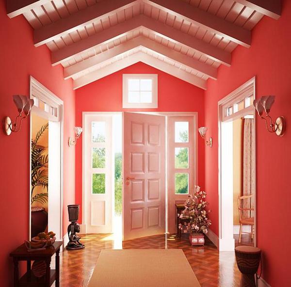 moderne rote einrichtung energiegeladene atmosph re. Black Bedroom Furniture Sets. Home Design Ideas