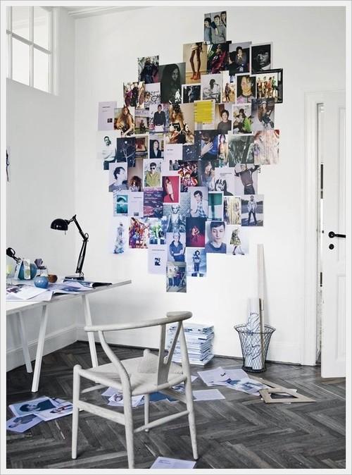 moderner Arbeitsplatz Inspirationen zur Wanddekoration Idee