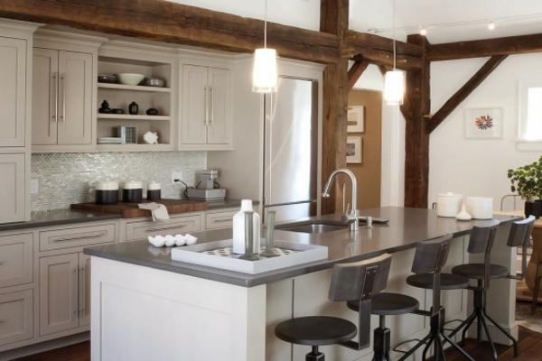 modernes küchen design bartheke