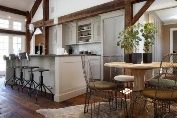 modernes küchen design pflanzen