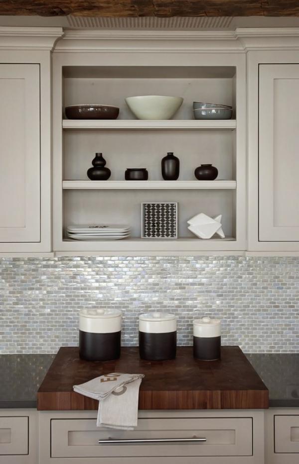 modernes küchen design weiß schrank regale