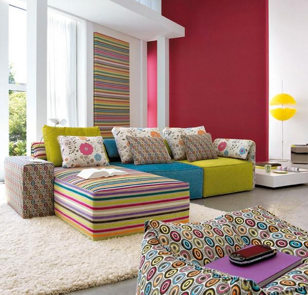 interieur design von linea italia coole ideen mit modularem sofa. Black Bedroom Furniture Sets. Home Design Ideas